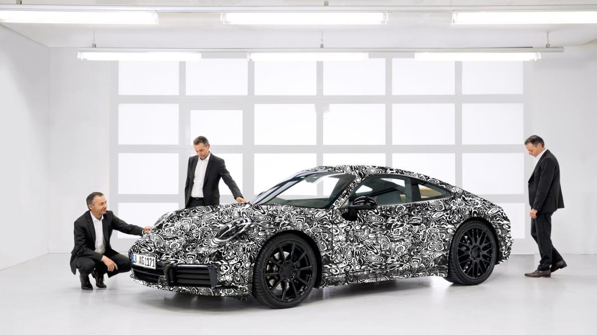 Porsche's 992-generation 911 sports car is around the corner.