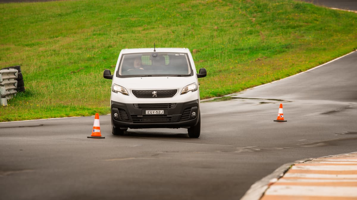 Drive 2021 Best Van finalist Peugeot Expert 6 view from front as driven on road