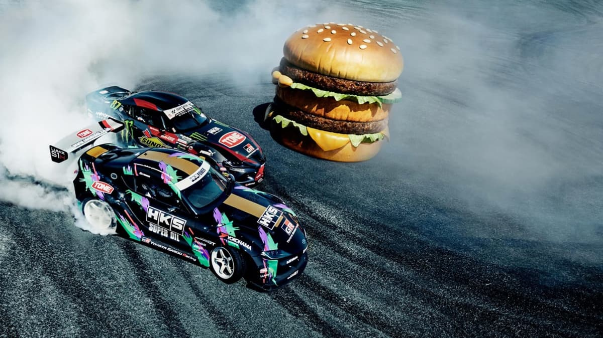 McDonald's uses drifting Toyota Supras in insane new ad