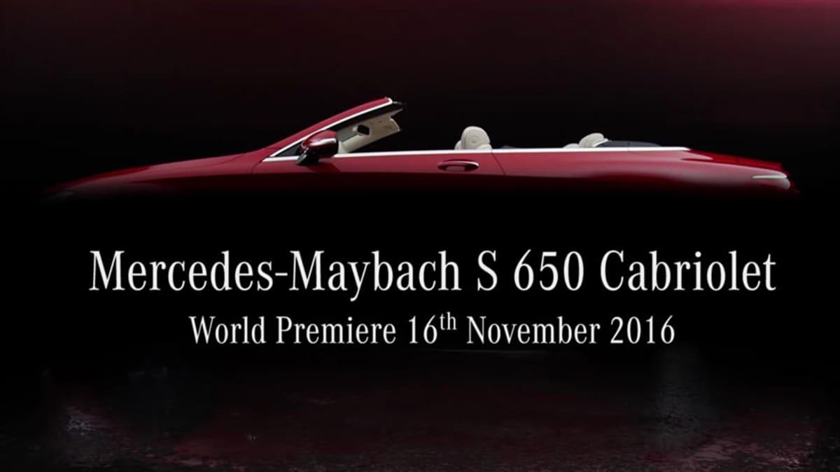 Mercedes-Maybach S 650 Cabriolet Teased Ahead Of LA Debut