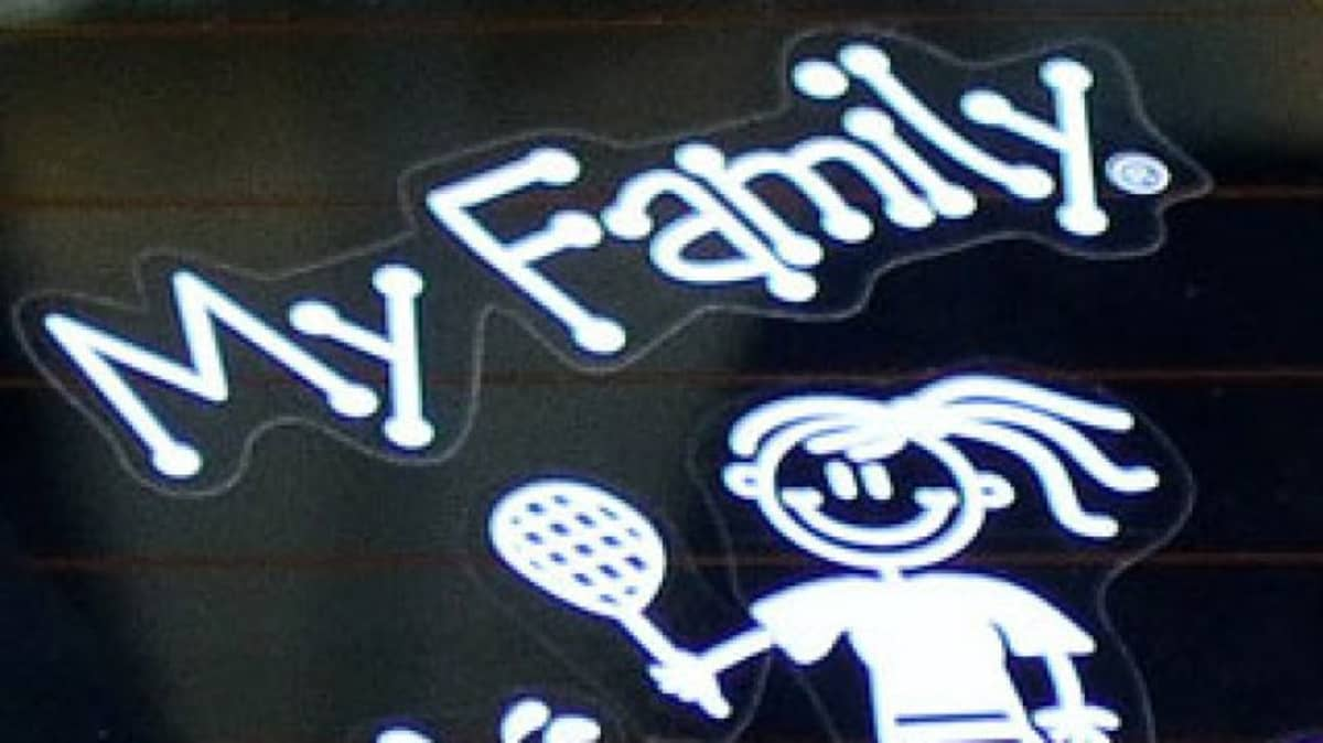 My family car stickers