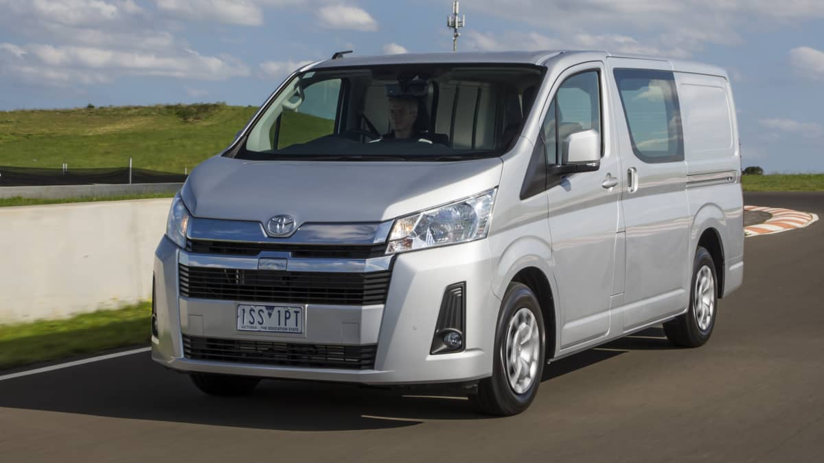 Drive Car of the Year Best Van 2021 finalist Toyota Hiace front exterior view