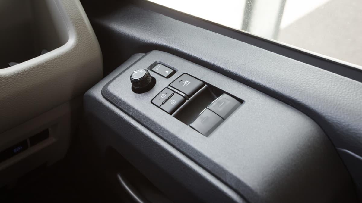 Drive 2021 Best Van finalist Toyota Hiace Interior Driver Side Door