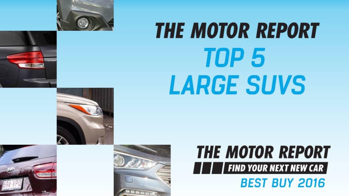 TMR Best Buy 2016 - Top 5 Large SUVs: Kia Sorento, Toyota Kluger, Ford Territory, Hyundai Santa Fe, Subaru Outback