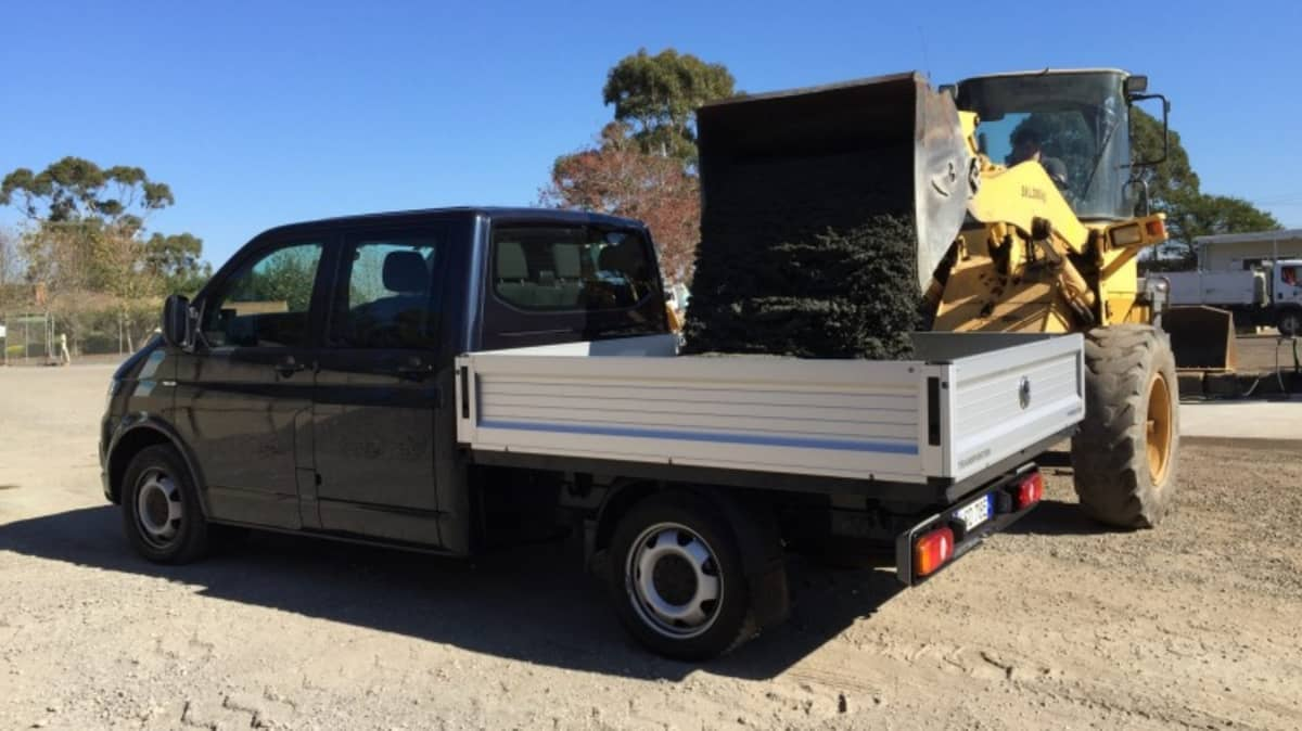The Volkswagen Transporter TDI400 dual cab chassis