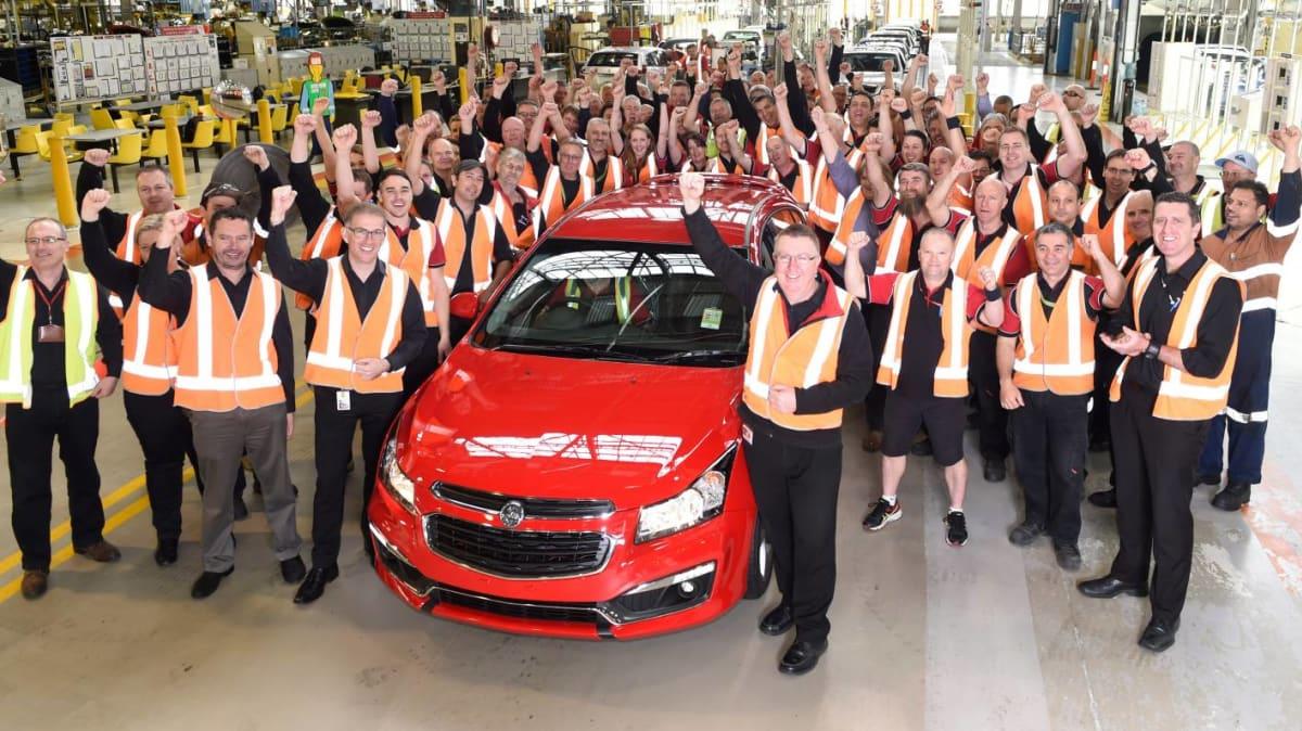 Final Holden Cruze Rolls-Off The Assembly Line In Elizabeth, SA
