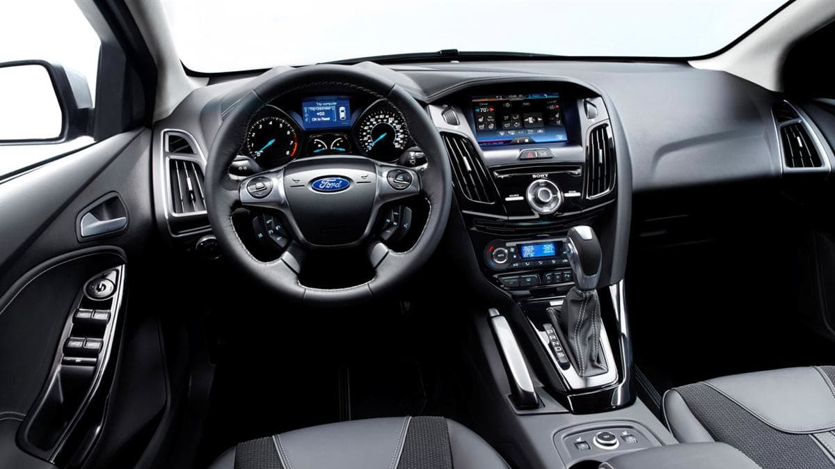 **Embargoed until 12:01 a.m. at Mon., Jan. 11th, 2010** Interior detail of the next-generation Ford Focus revealed at the 2010 North American International Auto Show.