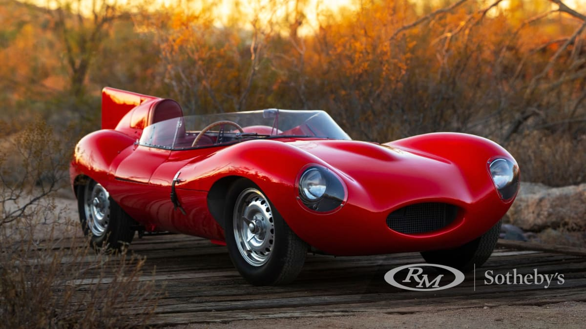 1955 Jaguar D-Type once owned by Bernie Eccelstone tipped to sell for $7.5 million