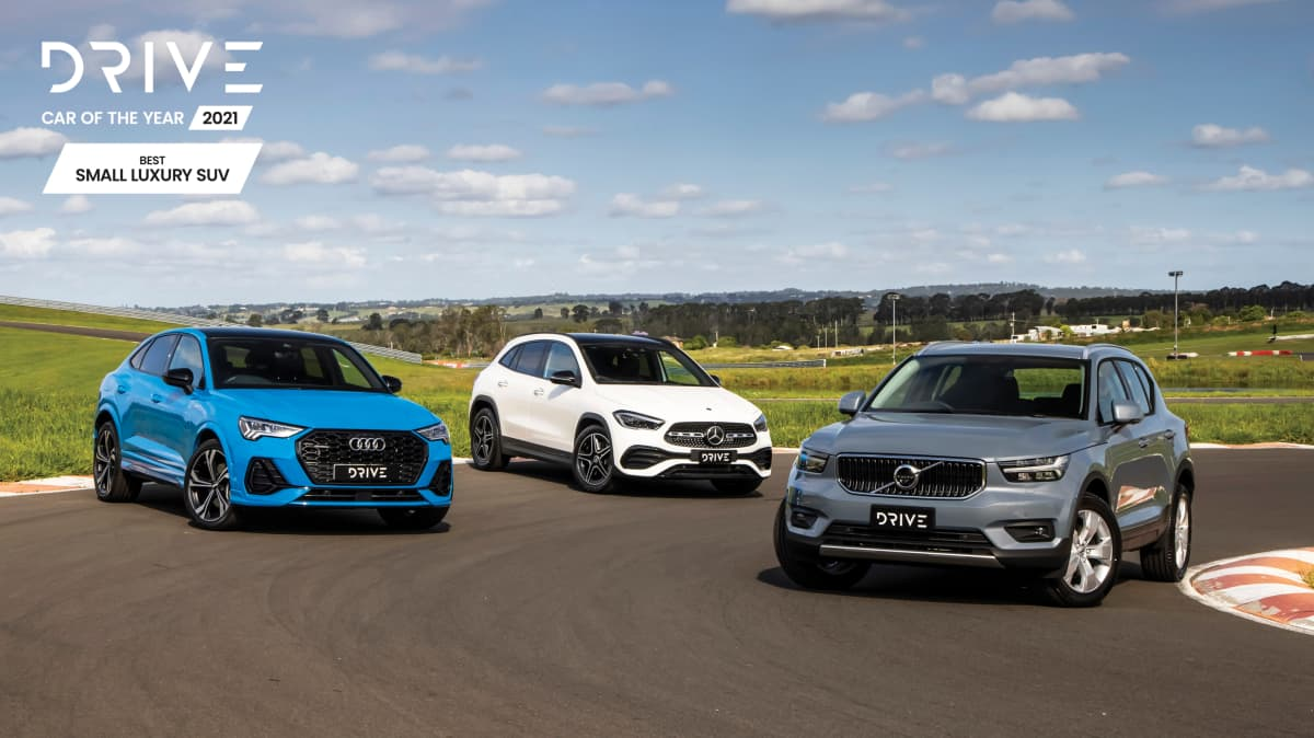 Drive Car of the Year Best Small Luxury SUV group shot