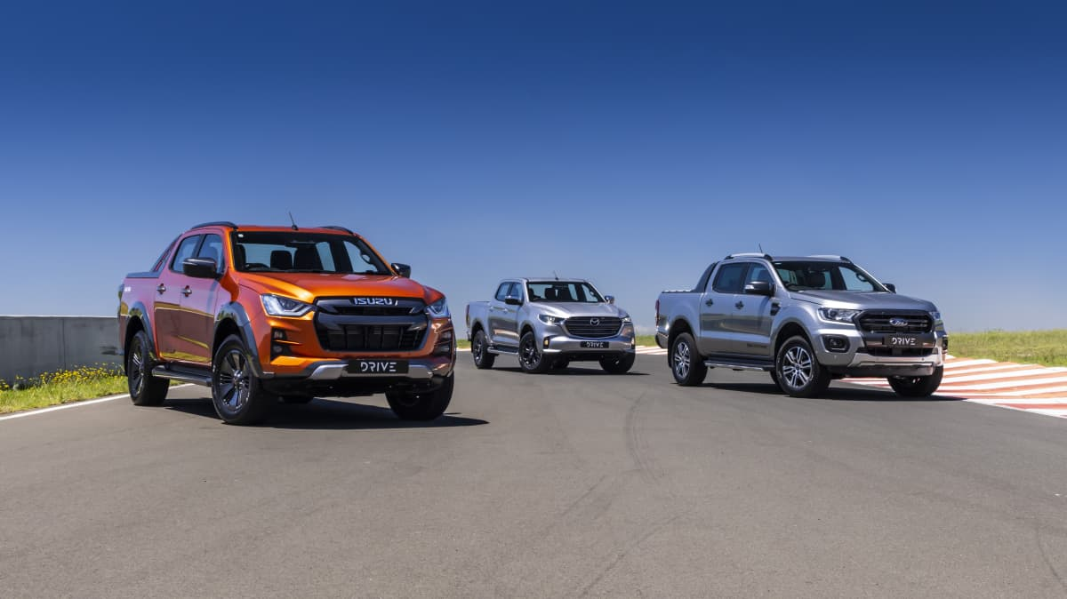 Drive Best Dual Cab Ute 2021 finalists group photo