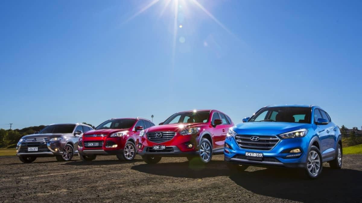 Mid-size SUV comparison review: Hyundai Tucson v Mazda CX-5 v Mitsubishi Outlander v Ford Kuga