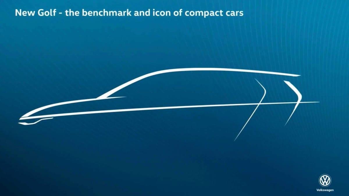 New Volkswagen Golf teased
