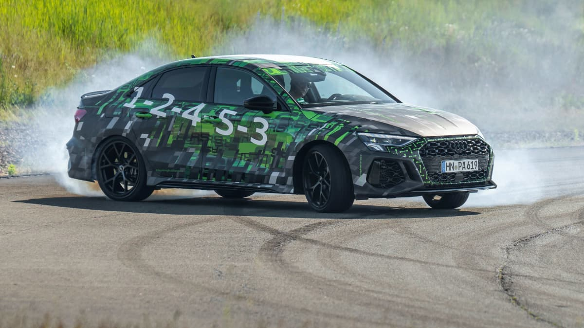2022 Audi RS3 drift mode prototype.