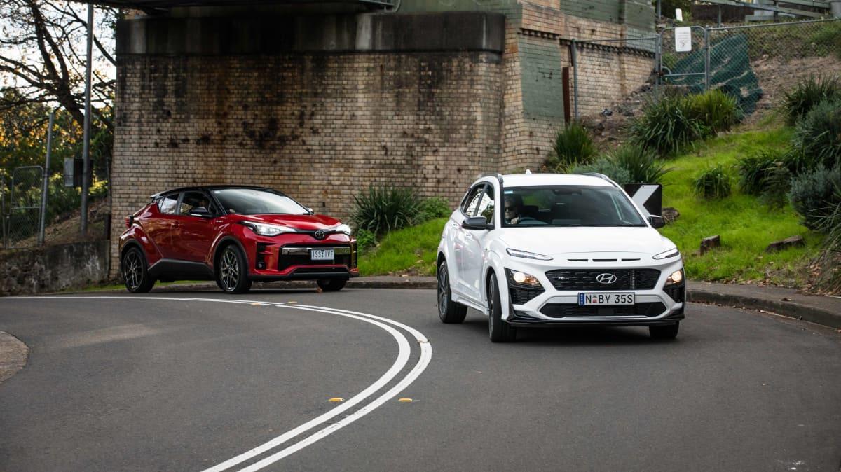 2021 Hyundai Kona N Line v Toyota C-HR GR Sport comparison-2