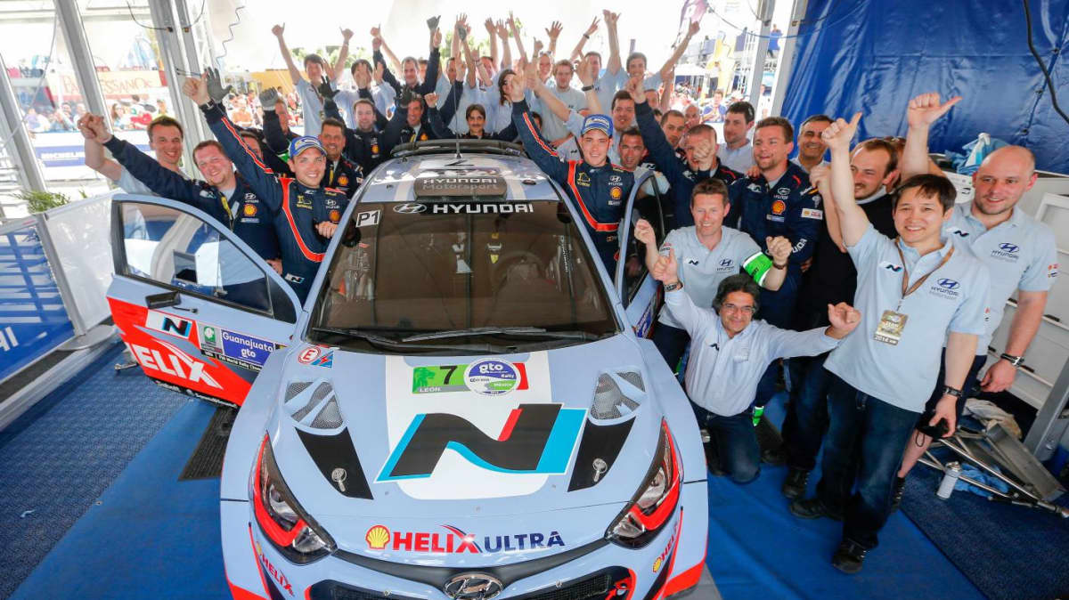 Hyundai World Rally Team Secures First Podium In Mexico, Atkinson Seventh