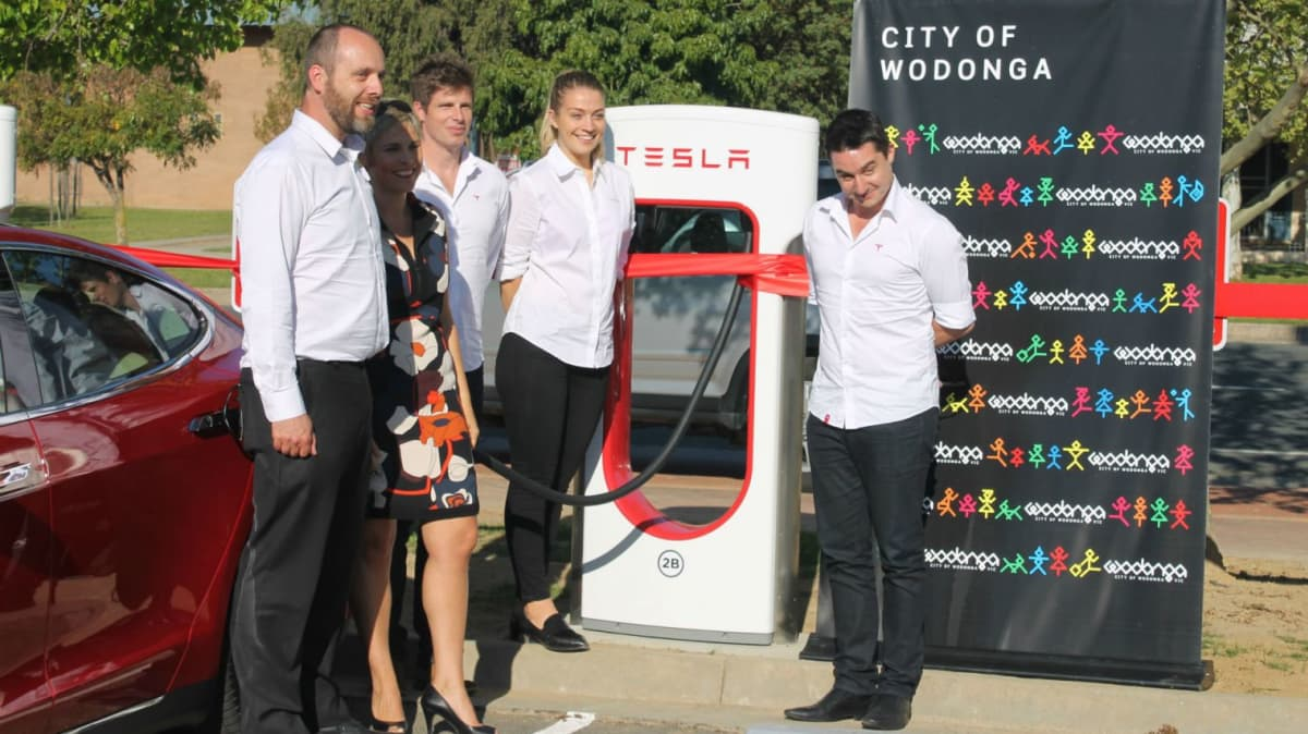 Tesla Superchargers Launched In Goulburn And Wodonga