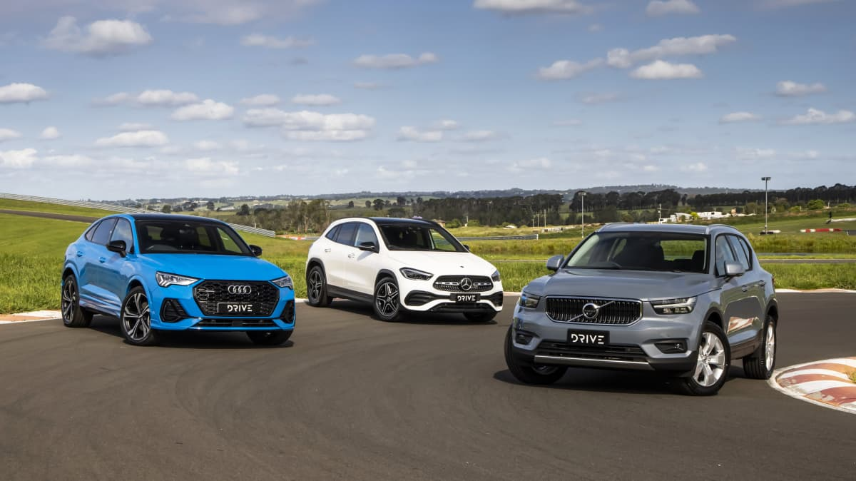 Drive Car of the Year 2021 Best Small Luxury SUV group shot