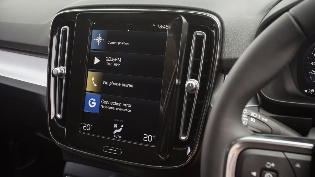 Drive Car of the Year Best Small Luxury SUV finalist Volvo XC40 infotainment system