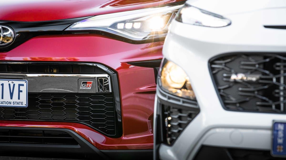 2021 Hyundai Kona N Line v Toyota C-HR GR Sport comparison-4