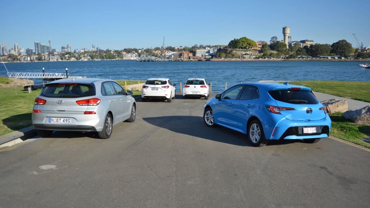 Battle of the hatchbacks: Corolla, Mazda3, i30 and Golf compared-3