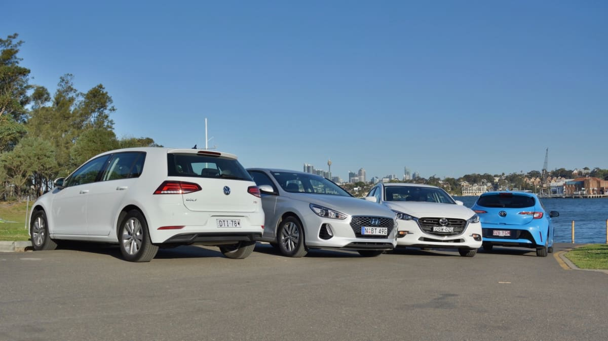 Battle of the hatchbacks: Corolla, Mazda3, i30 and Golf compared-2