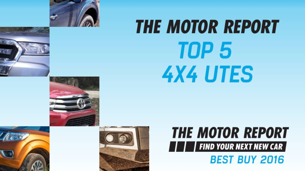 TMR Best Buy 2016 - Top 5 4x4 Utes: Nissan Navara, Toyota Hilux, Ford Ranger, Mazda BT-50, Mitsubishi Triton