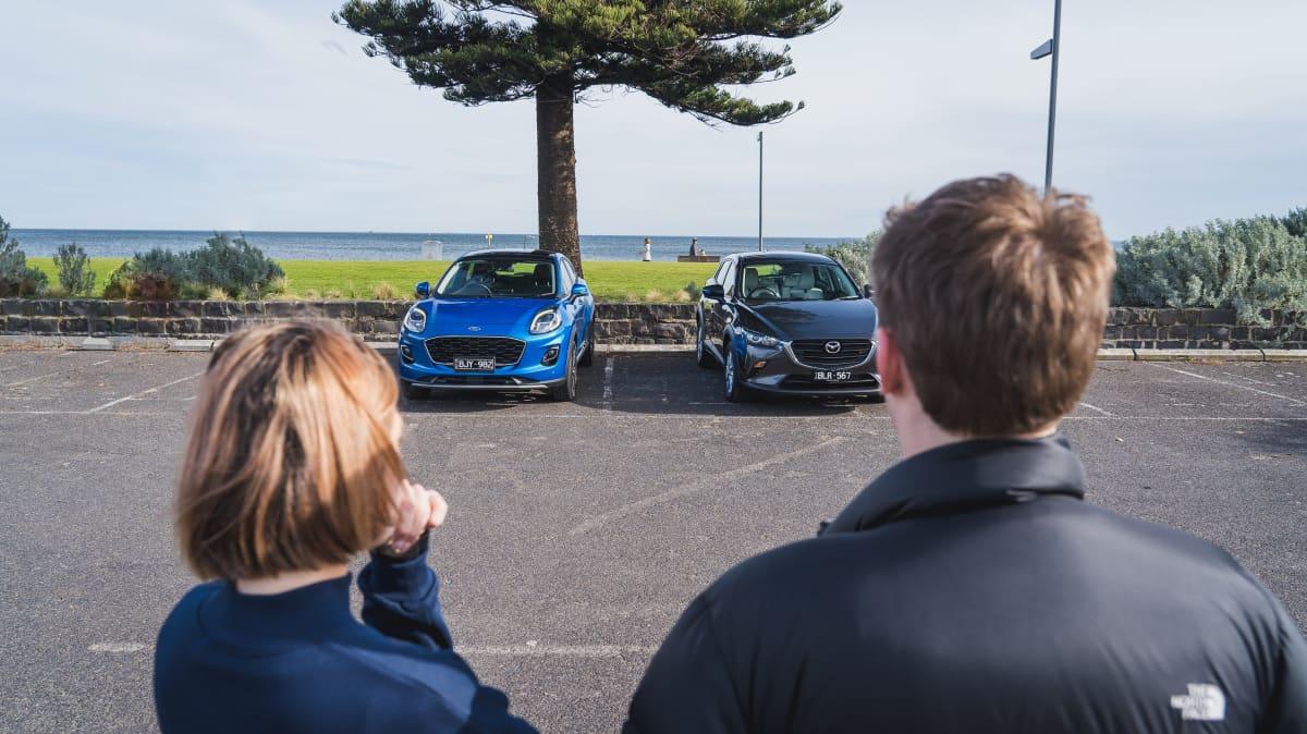2021 Ford Puma v Mazda CX-3 Maxx Sport LE-0
