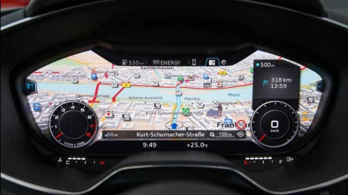 Audi has revealed a new instrument panel on its TT coupe at the 2014 Geneva motor show.