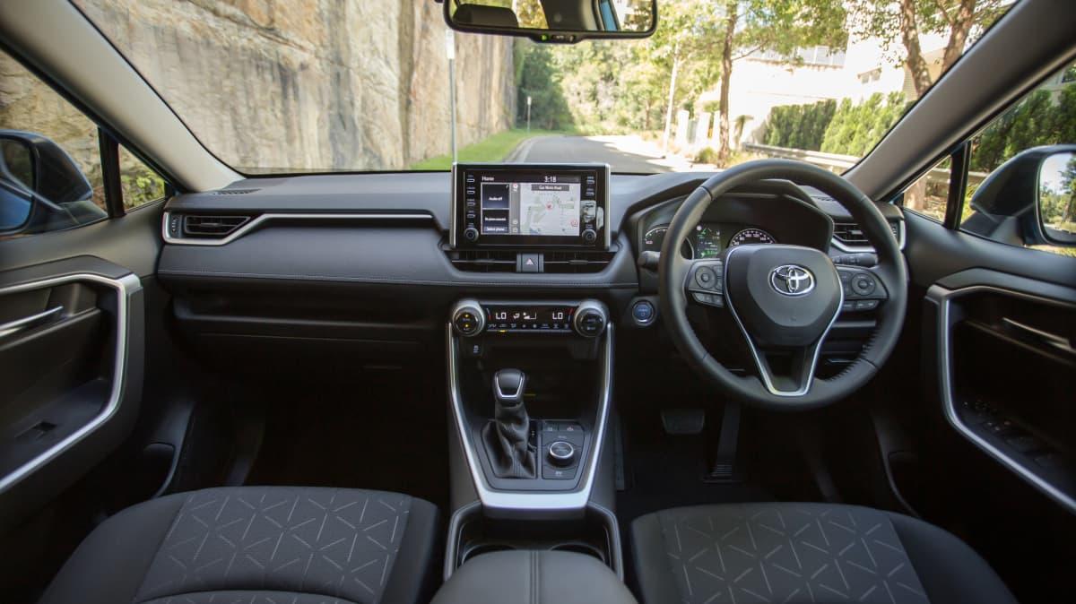 2021 Toyota RAV4 GXL interior.