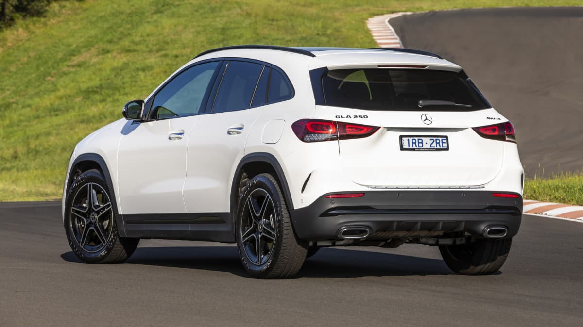 Drive Car of the Year Best Small Luxury SUV finalist Mercedes-Benz GLA rear exterior view