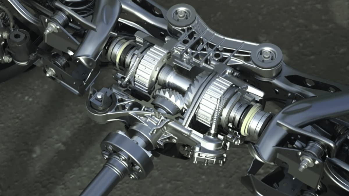 2022 Audi RS3 rear differential.