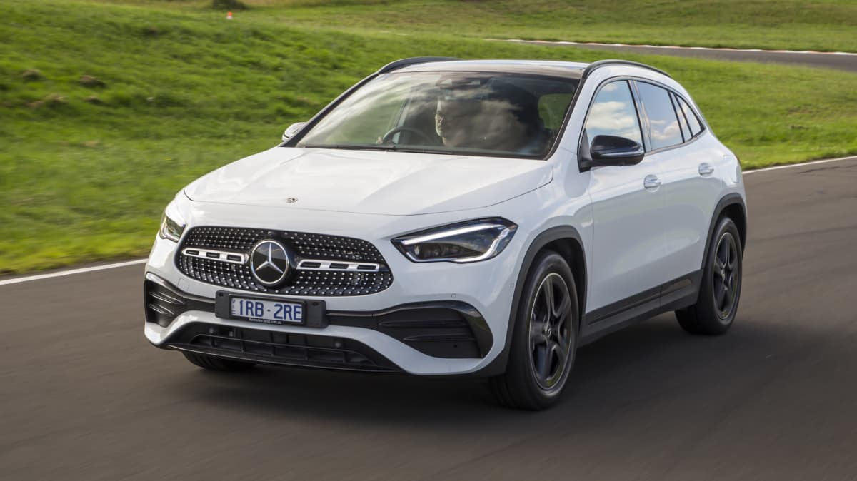 Drive Car of the Year Best Small Luxury SUV finalist Mercedes-Benz GLA front exterior view