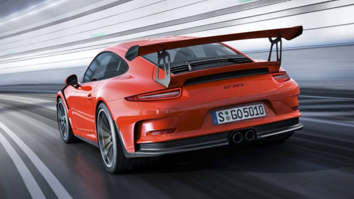 Porsche has re-designed the aerodynamics on the 911 GT3 RS.