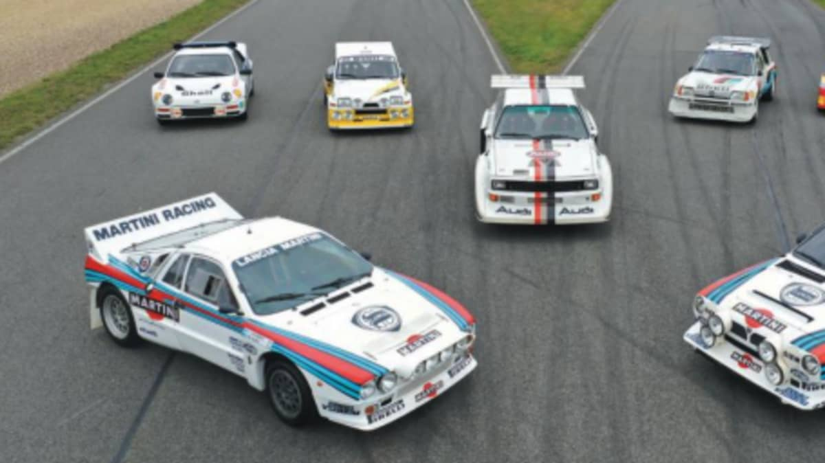 Collect the set: Group B rally car icons heading to auction