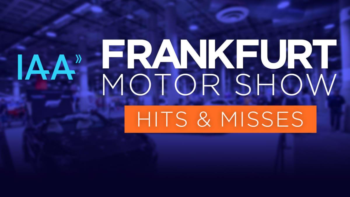 2019 Frankfurt motor show: Hits and misses