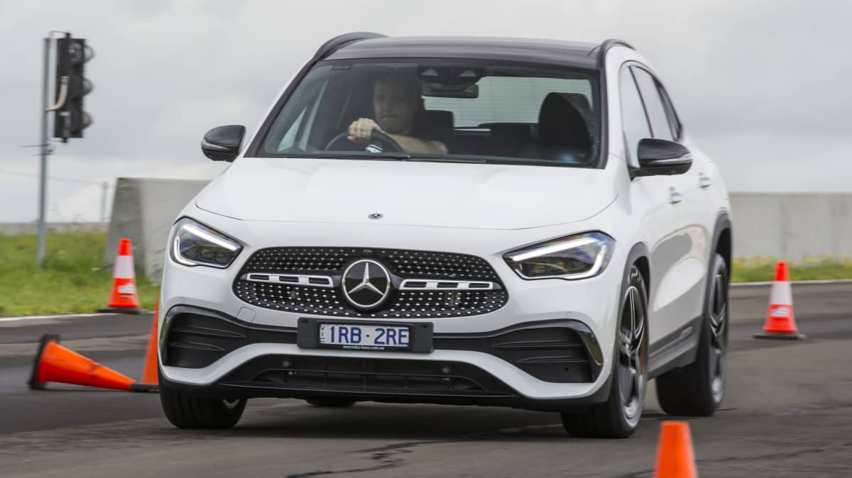 Drive Car of the Year Best Small Luxury SUV finalist Mercedes-Benz GLA on road