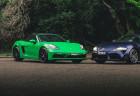 Porsche and Toyota Supra