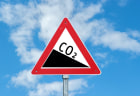 CO2 road sign
