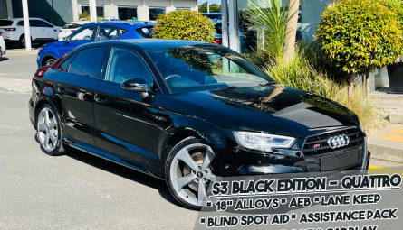2018 Audi S3 Black Edition Sedan