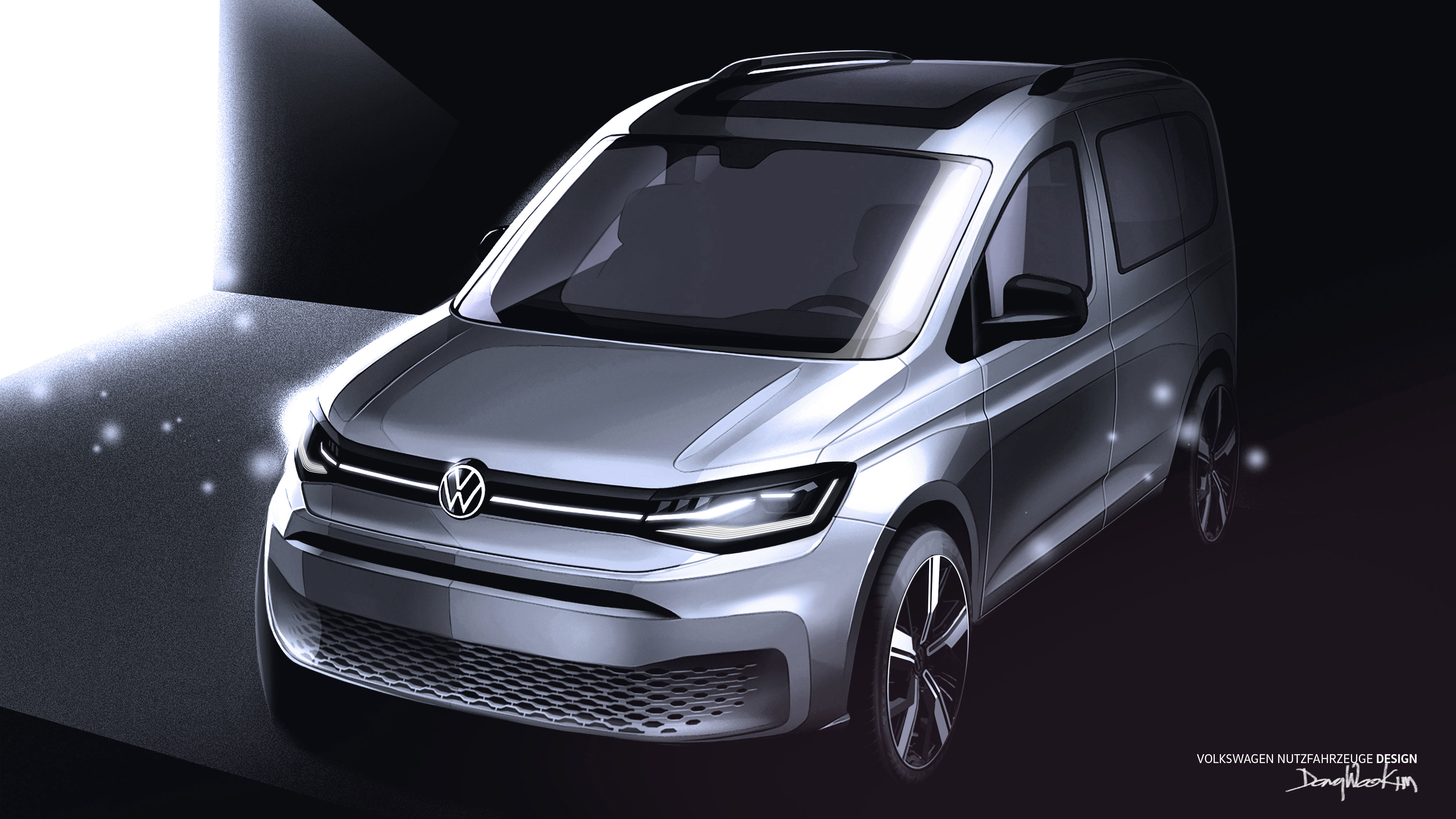 2021 Volkswagen Caddy sketched more realistically