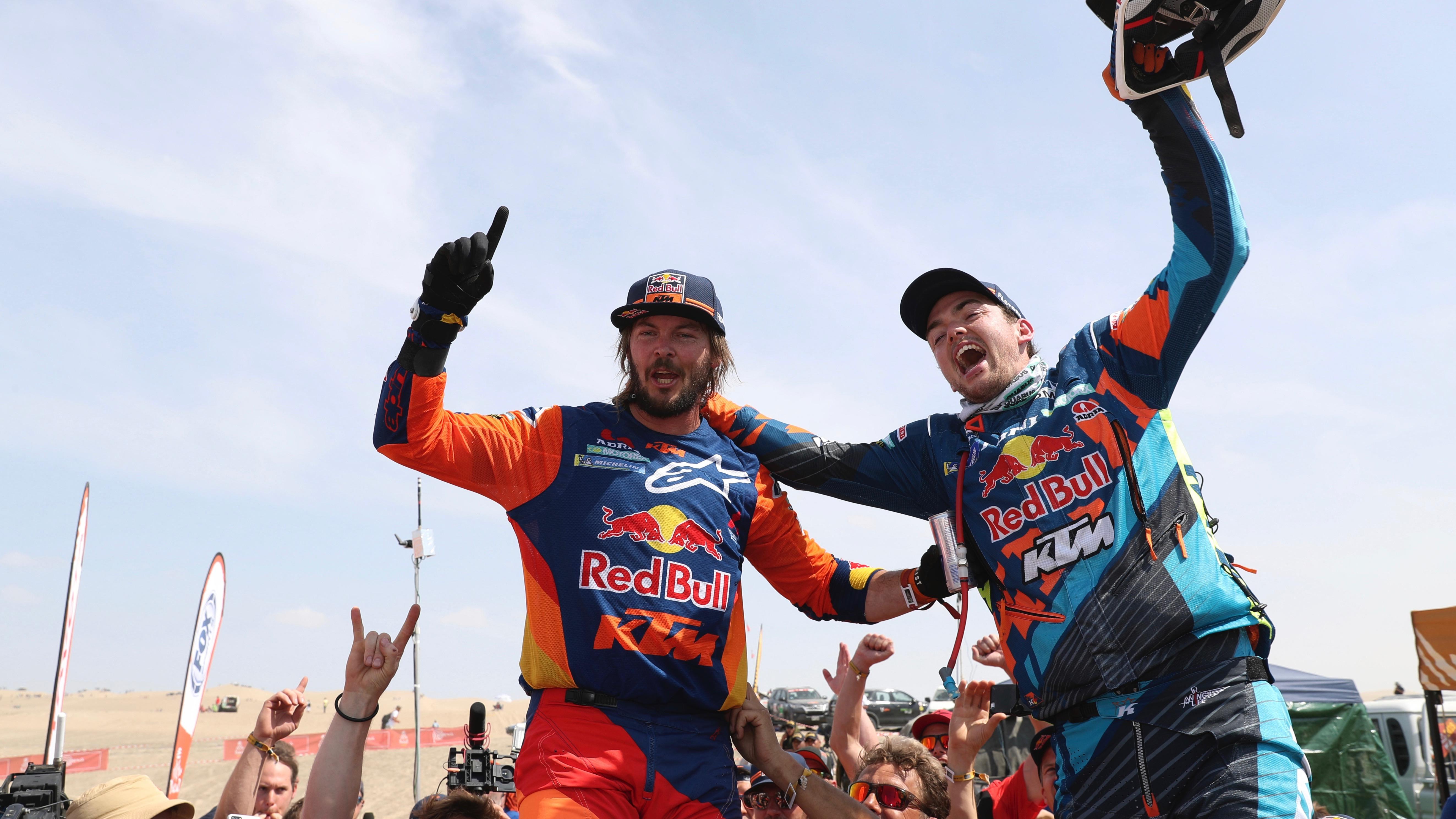 Motorsport: Toby Price wins Dakar with broken wrist