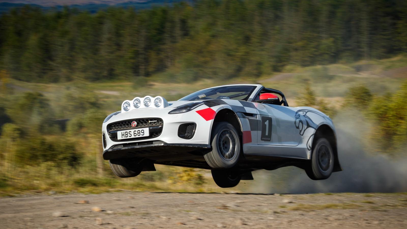 Jaguar builds F-Type rally car