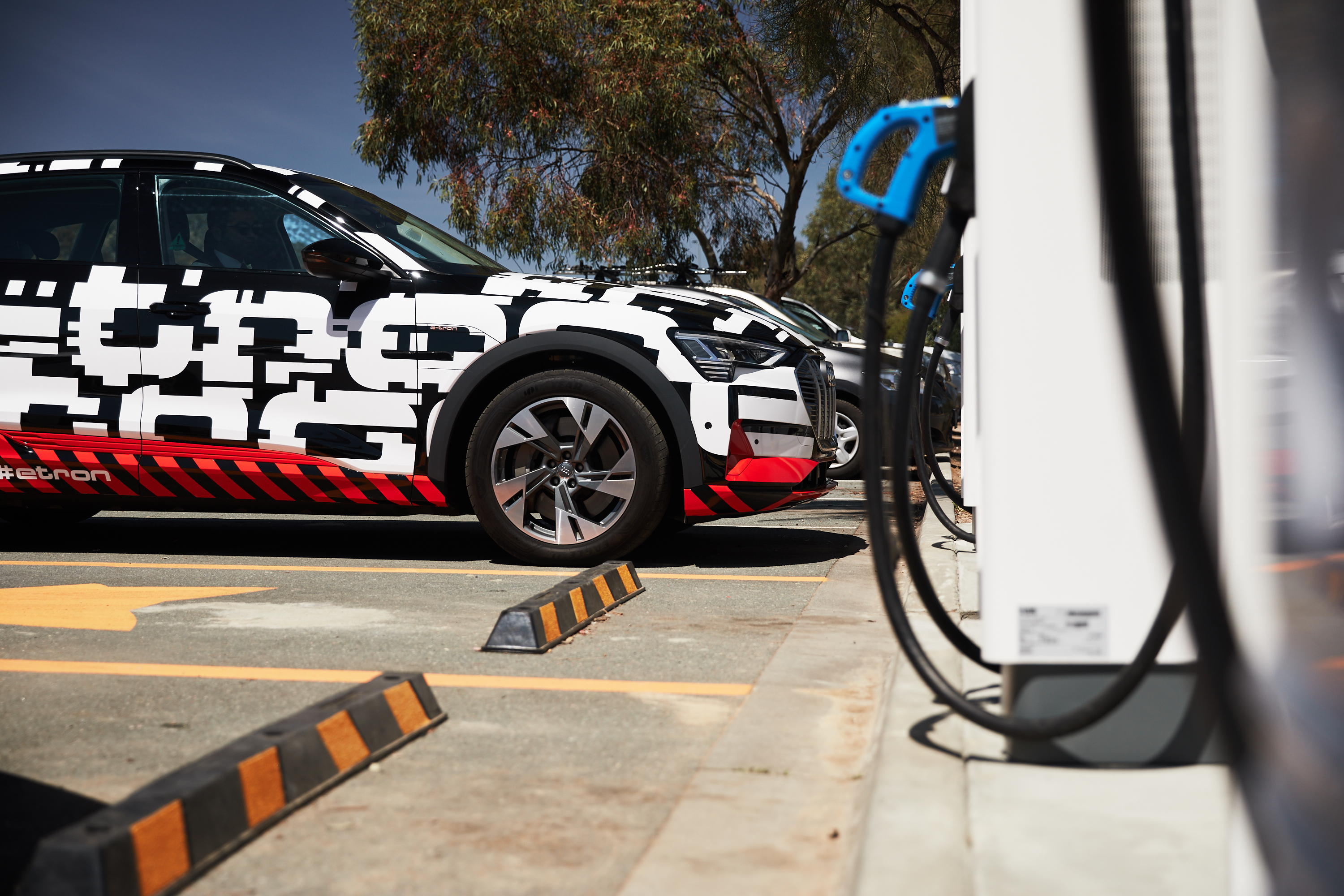 Audi E-Tron at new charge fox point