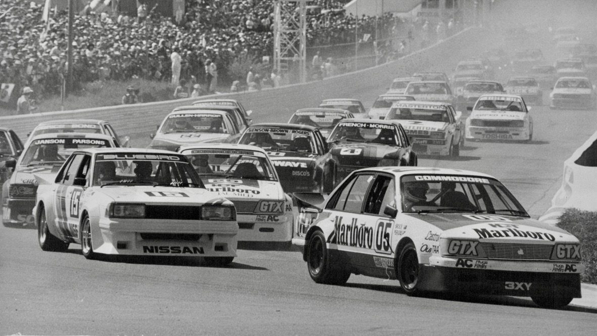 Peter Brock leads the 1983 Bathurst 1000
