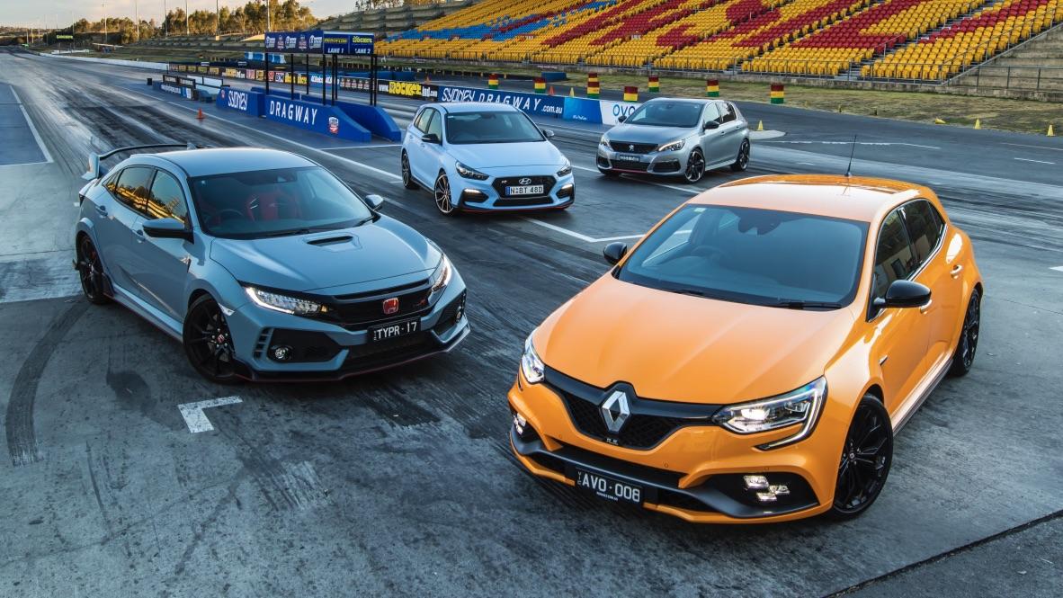 Gallery: Renault Megane RS v Honda Civic Type R v Peugeot 308 GTi v Hyundai i30 N
