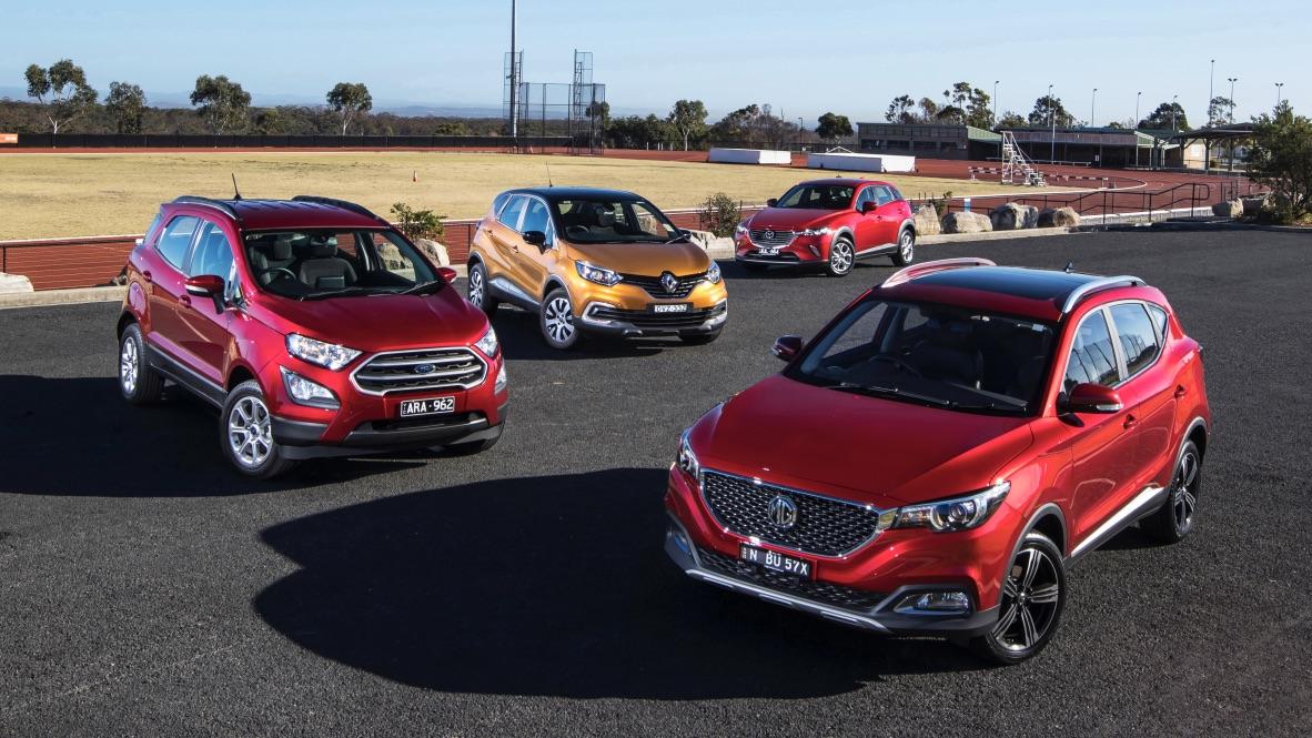City SUV comparison test: Mazda CX-3, MG ZS, Renault Captur, Ford EcoSport.