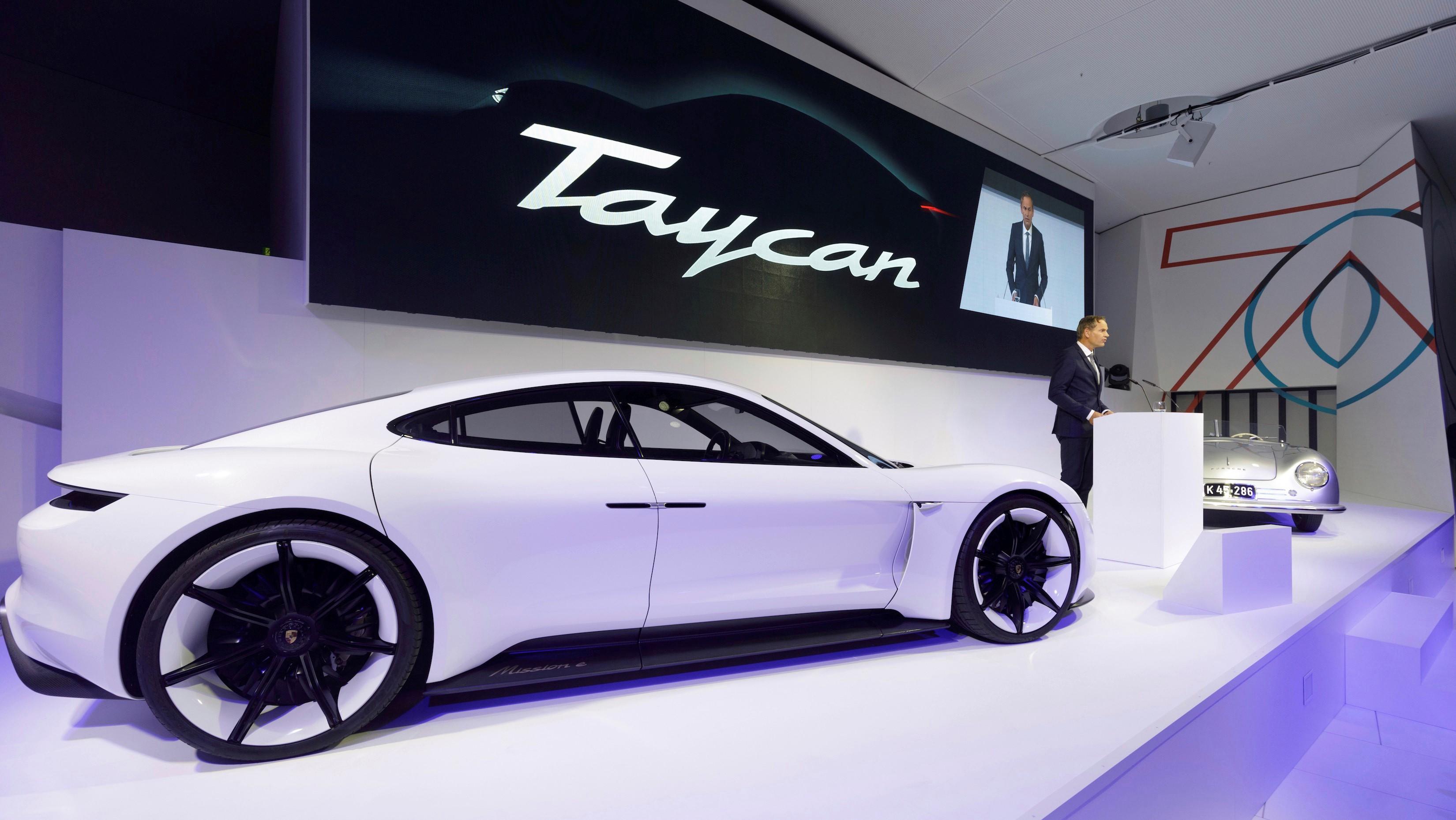 Porsche Taycan concept.