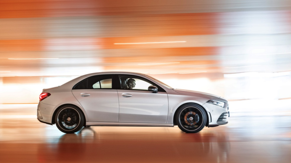 2019 Mercedes-Benz A-Class sedan.