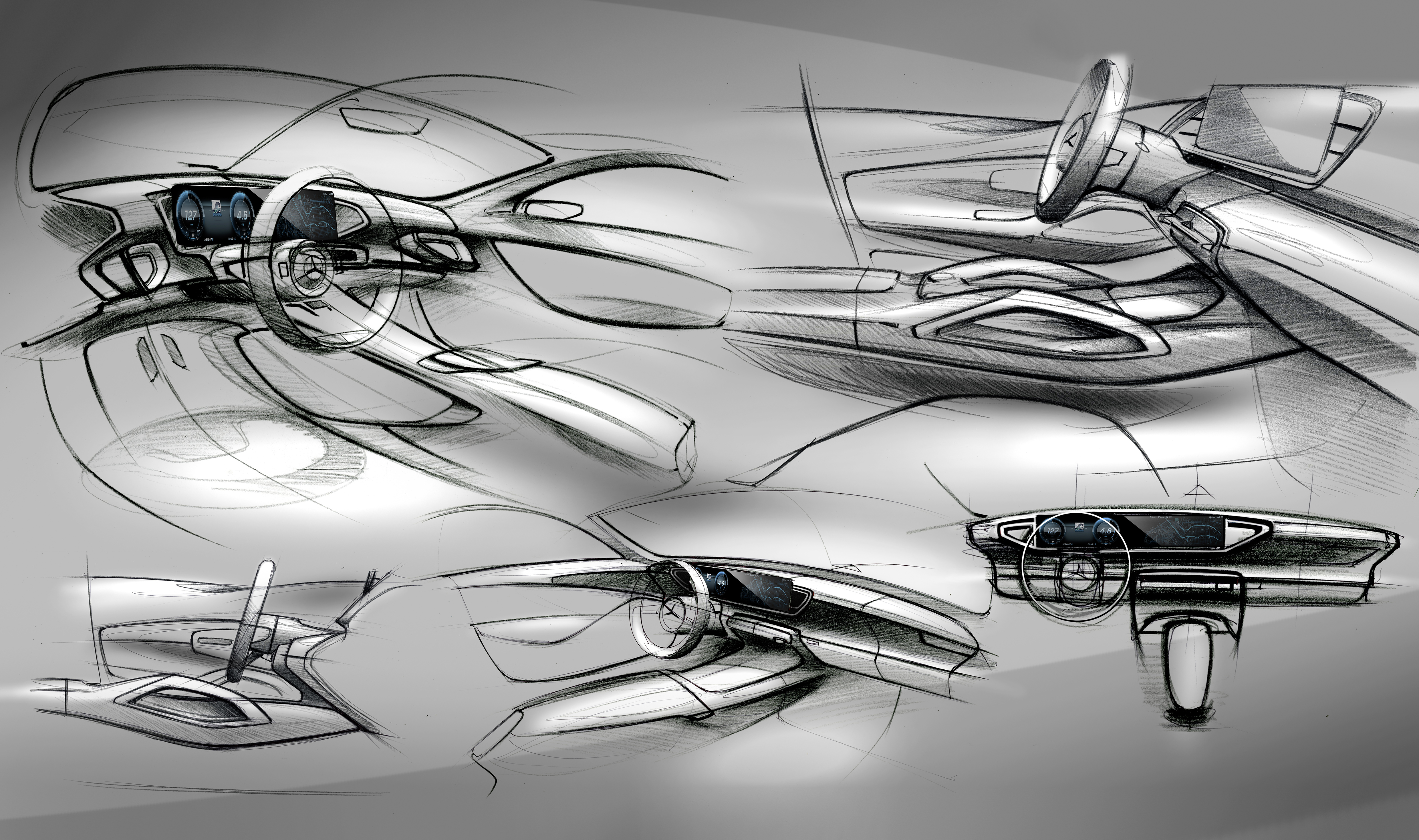 Mercedes-Benz GLE interior previewed