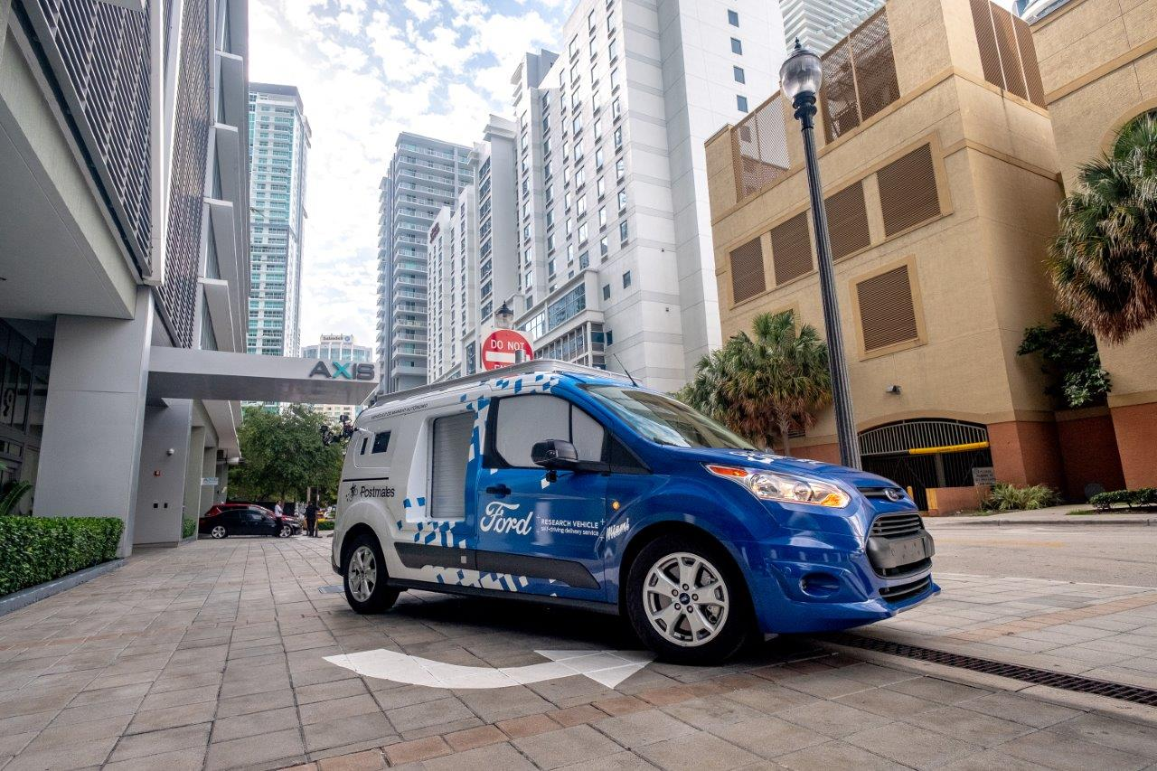 Ford autonomous delivery vehicle research